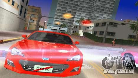 Subaru BRZ Type 1 pour GTA Vice City sur la vue arrière gauche