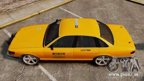 Taxi nouveau CDs pour GTA 4 Vue arrière de la gauche