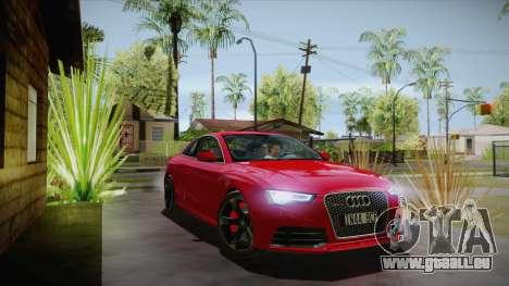 Audi RS5 2012 für GTA San Andreas Rückansicht
