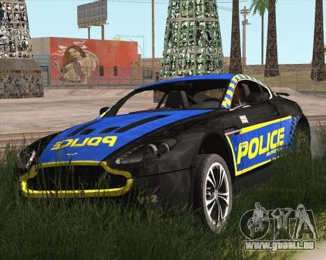 Aston Martin V12 Vantage Cop Edition pour GTA San Andreas