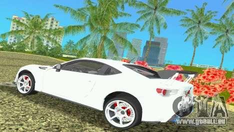 Subaru BRZ Type 4 pour une vue GTA Vice City de la droite