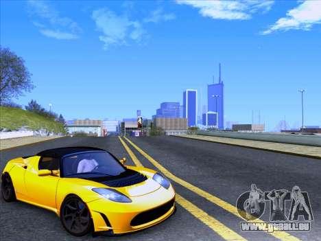 Tesla Roadster Sport 2011 für GTA San Andreas zurück linke Ansicht