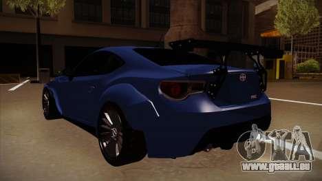 Scion FR-S Rocket Bunny pour GTA San Andreas vue arrière