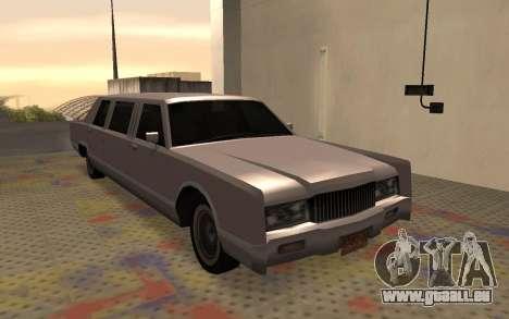 Limousine Driver Parallel Lines von für GTA San Andreas rechten Ansicht