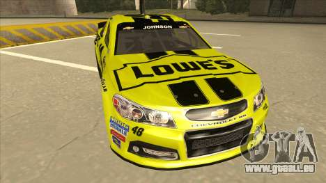 Chevrolet SS NASCAR No. 48 Lowes yellow für GTA San Andreas linke Ansicht
