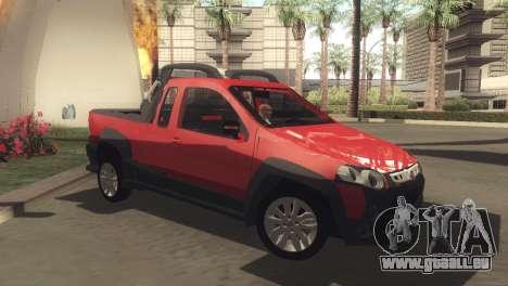 Fiat Strada Locker 2013 pour GTA San Andreas