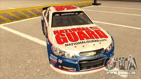 Chevrolet SS NASCAR No. 88 National Guard für GTA San Andreas linke Ansicht