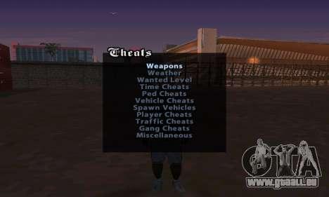 Cheat Menu pour GTA San Andreas