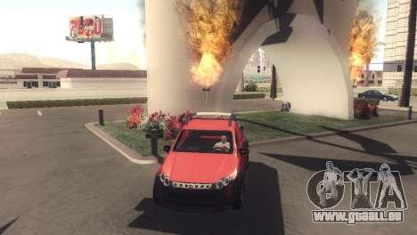 Fiat Strada Locker 2013 pour GTA San Andreas laissé vue