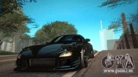 Mazda RX-7 STANCENATION pour GTA San Andreas vue intérieure