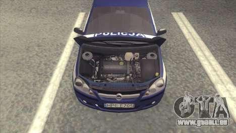 Opel Corsa C Policja pour GTA San Andreas vue de droite