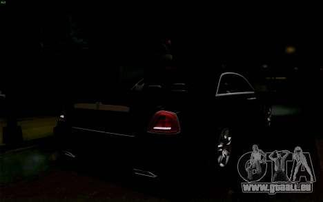 Rolls-Royce Ghost pour GTA San Andreas vue de dessus
