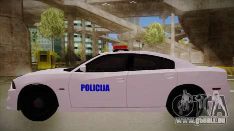 Dodge Charger SRT8 Policija für GTA San Andreas zurück linke Ansicht