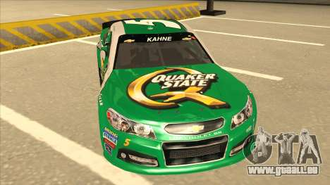 Chevrolet SS NASCAR No. 5 Quaker State pour GTA San Andreas laissé vue