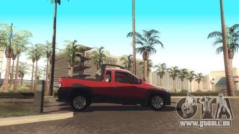 Fiat Strada Locker 2013 für GTA San Andreas Rückansicht