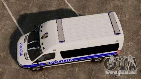 Mercedes-Benz Sprinter Croatian Police [ELS] pour GTA 4 est un droit