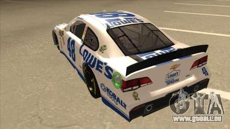 Chevrolet SS NASCAR No. 48 Lowes white pour GTA San Andreas vue arrière