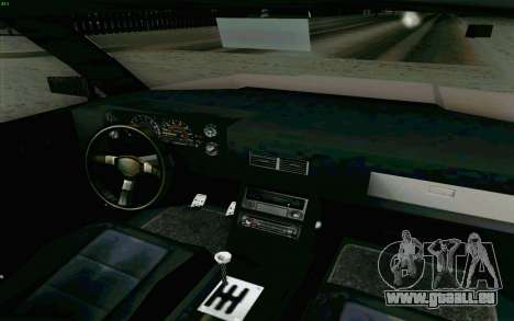 Manana Hatchback pour GTA San Andreas vue intérieure