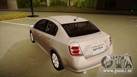 Nissan Sentra S 2008 pour GTA San Andreas vue arrière