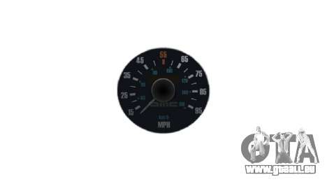 Compteur de vitesse DeLorean DMC-12 pour GTA 4