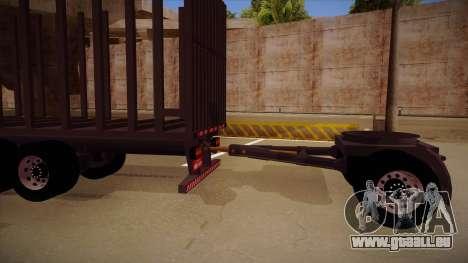Pièce de jonction d'une remorque de camion de bo pour GTA San Andreas laissé vue
