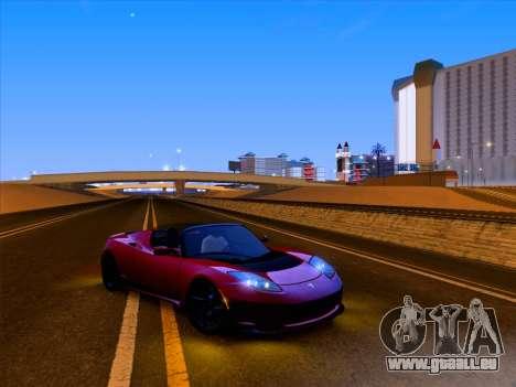 Tesla Roadster Sport 2011 für GTA San Andreas Innen