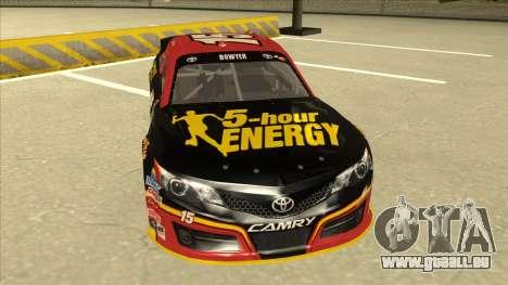 Toyota Camry NASCAR No. 15 5-hour Energy für GTA San Andreas linke Ansicht