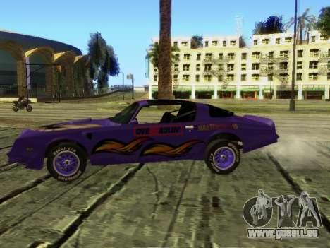 Pontiac Firebird Overhaulin pour GTA San Andreas vue arrière