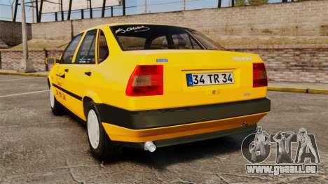 Fiat Tempra SX.A Turkish Taxi für GTA 4 hinten links Ansicht