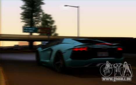 Lamborghini Aventador Vossen V2.0 Final pour GTA San Andreas vue intérieure