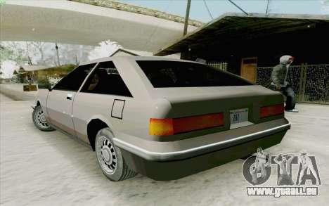 Manana Hatchback pour GTA San Andreas vue de droite