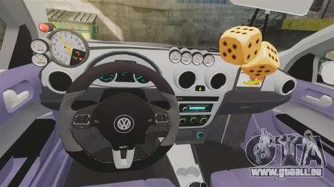 Volkswagen Gol G6 2013 Turbo Socado pour GTA 4 est une vue de l'intérieur