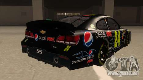 Chevrolet SS NASCAR No. 24 Pepsi Max AARP pour GTA San Andreas vue de droite