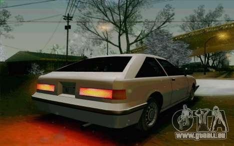 Manana Hatchback pour GTA San Andreas vue arrière