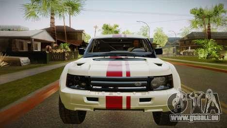 Melon EXR S 2012 FIV + AD pour GTA San Andreas vue intérieure