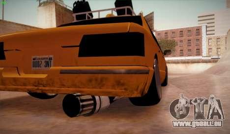 New taxi für GTA San Andreas zurück linke Ansicht