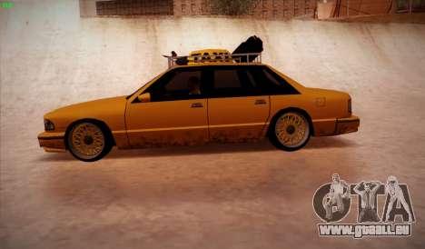 New taxi pour GTA San Andreas laissé vue