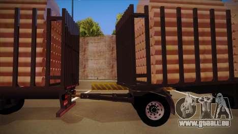 2644 MB Teil eines Holz-LKW-Anhänger herstellen für GTA San Andreas zurück linke Ansicht