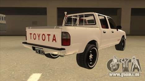 Toyota Hilux 2004 pour GTA San Andreas vue de droite