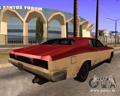 Buccaneer pour GTA San Andreas laissé vue