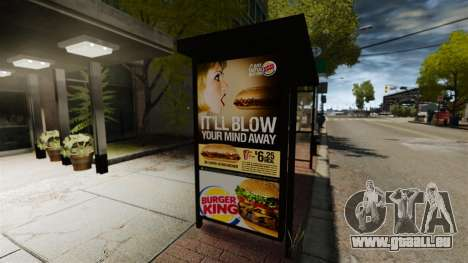 Neue Werbung an Bushaltestellen für GTA 4 Sekunden Bildschirm