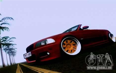 BMW M3 Cabrio pour GTA San Andreas sur la vue arrière gauche