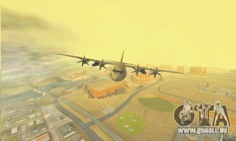 Hercules GTA V pour GTA San Andreas vue de dessus
