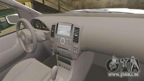 Nissan Pathfinder Croatian Police [ELS] pour GTA 4 Vue arrière