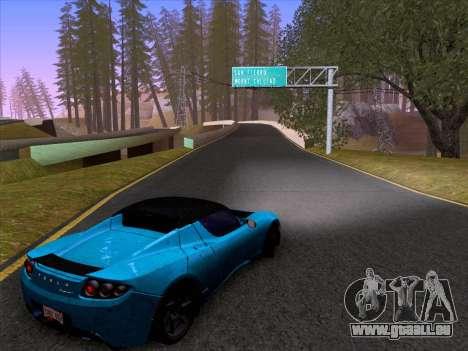 Tesla Roadster Sport 2011 pour GTA San Andreas vue intérieure