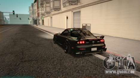 Mazda RX-7 STANCENATION pour GTA San Andreas sur la vue arrière gauche