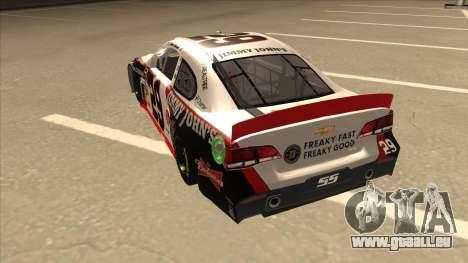 Chevrolet SS NASCAR No. 29 Jimmy Johns pour GTA San Andreas vue arrière