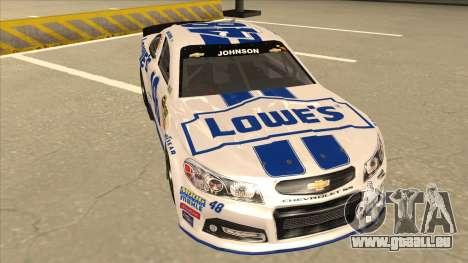Chevrolet SS NASCAR No. 48 Lowes white pour GTA San Andreas laissé vue