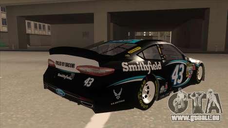 Ford Fusion NASCAR No. 43 Smithfield Foods pour GTA San Andreas vue de droite