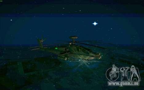AH-64 Apache für GTA San Andreas zurück linke Ansicht